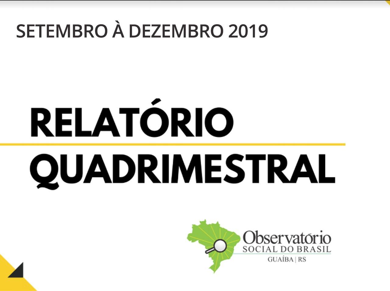 Relatório Quadrimestral 2019/3